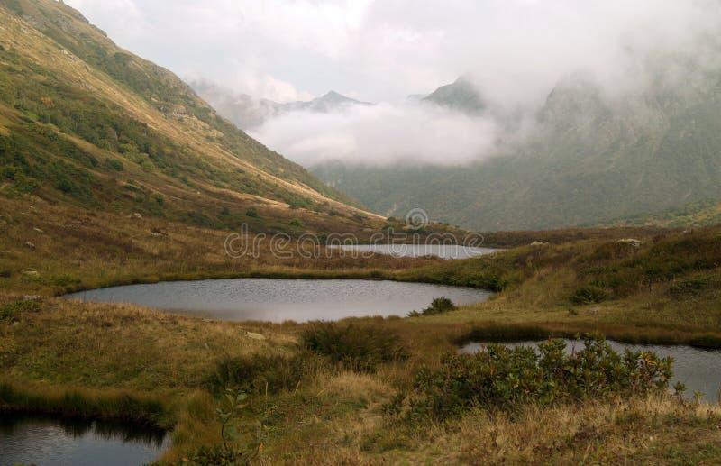 Jeziora Dzitaku w Kaukaz górach, Krasnodar krai, Rosja obrazy stock