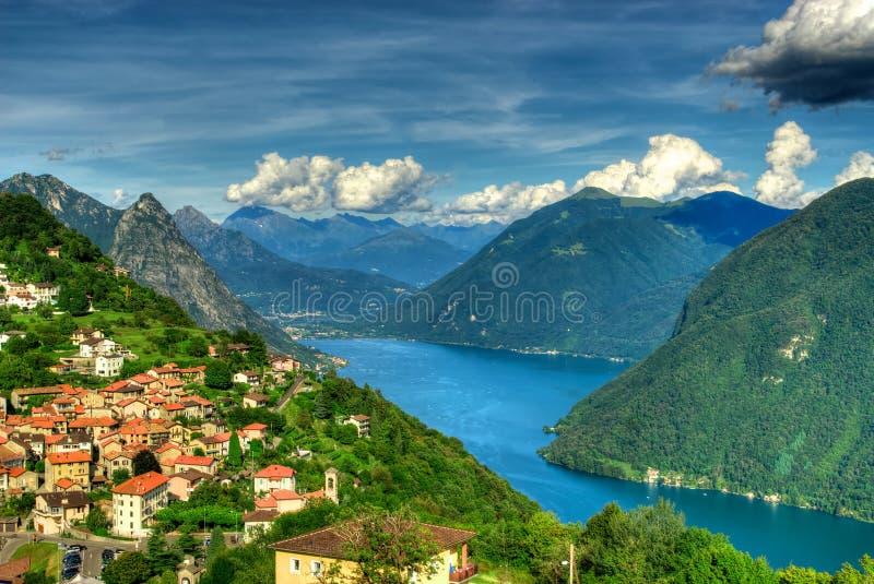 jeziora Lugano zdjęcie stock