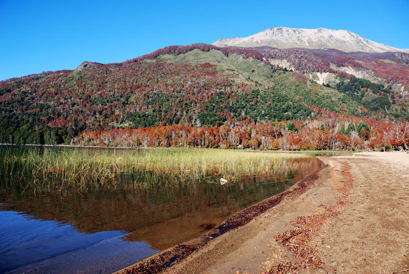 jeziora patagonia siedem fotografia royalty free