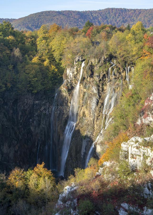 Jeziora plitvice w Croatia fotografia stock