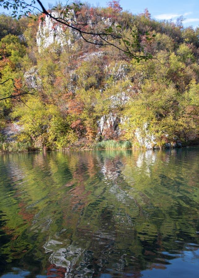 Jeziora plitvice w Croatia zdjęcia royalty free