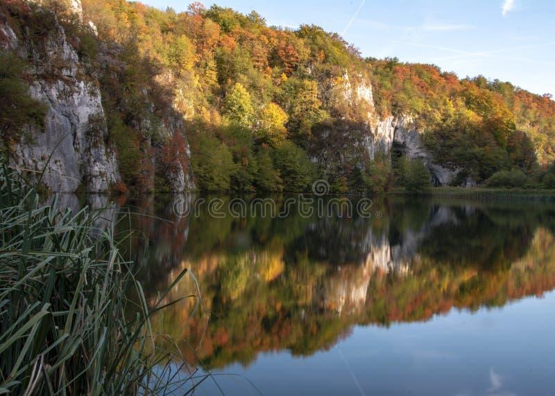Jeziora plitvice w Croatia zdjęcie royalty free