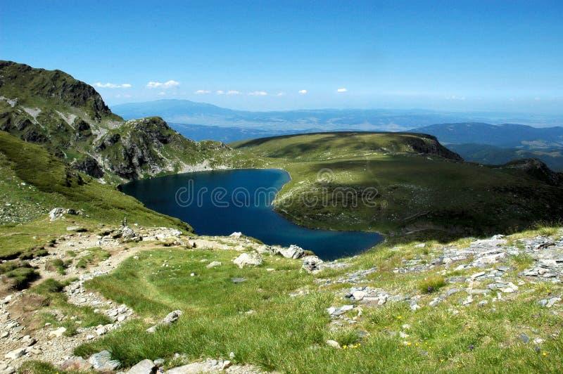 jeziora rila bulgari oko obrazy royalty free