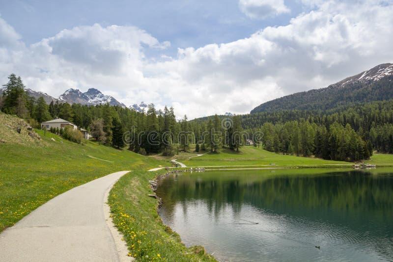 Jeziora St. Moritz, Szwajcaria. zdjęcia stock