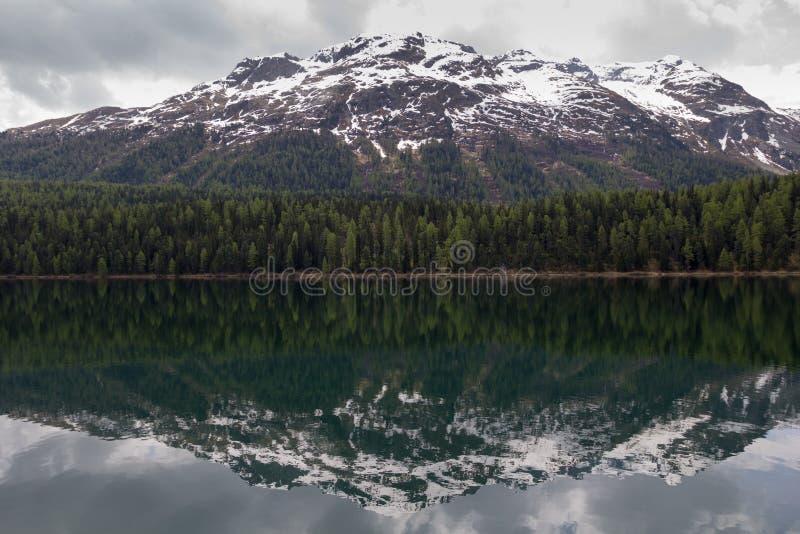 Jeziora St. Moritz, Szwajcaria. zdjęcia royalty free