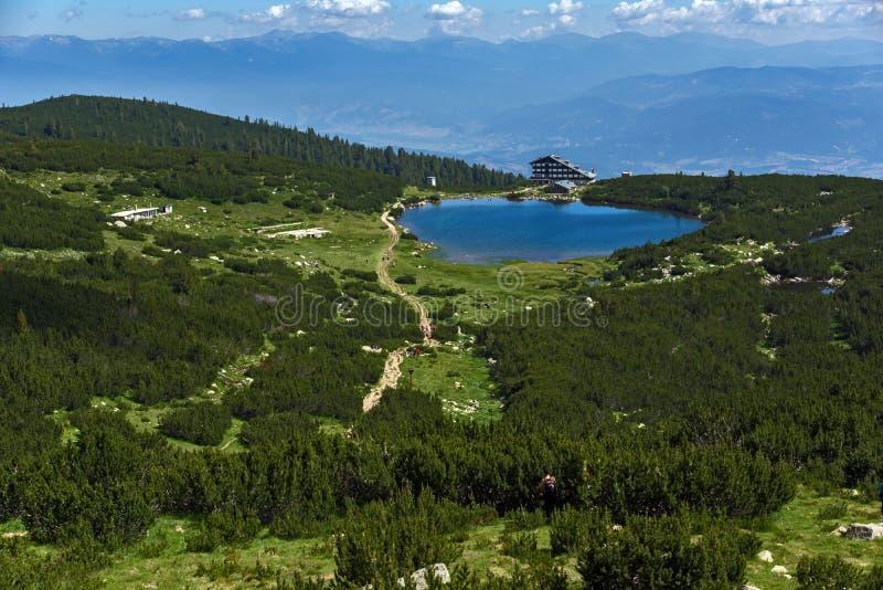Jeziorna Bezbog i Bezbog buda, Pirin góra obraz royalty free