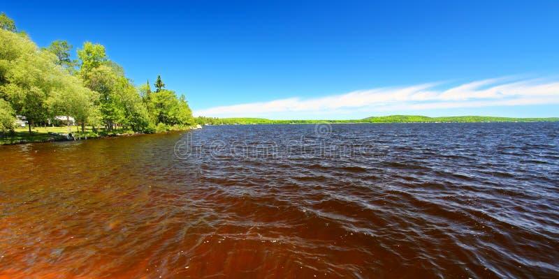 Jeziorna Gogebic panorama zdjęcia stock