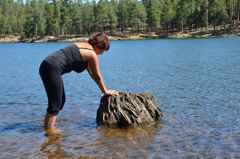 jeziorna kobieta fotografia stock