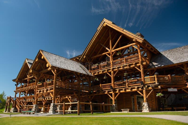 Jeziorna Louise ośrodka narciarskiego stróżówka fotografia royalty free