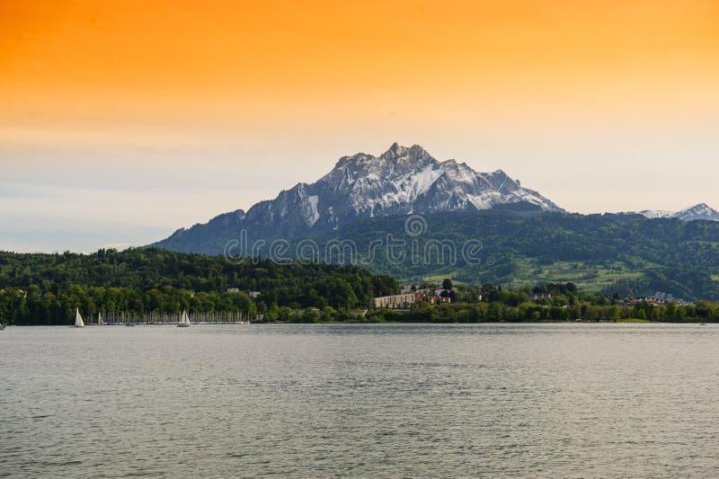 Jeziorna Lucerna zdjęcia royalty free