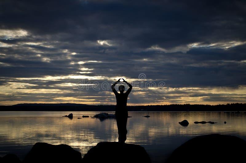 jeziorna medytacja obraz royalty free