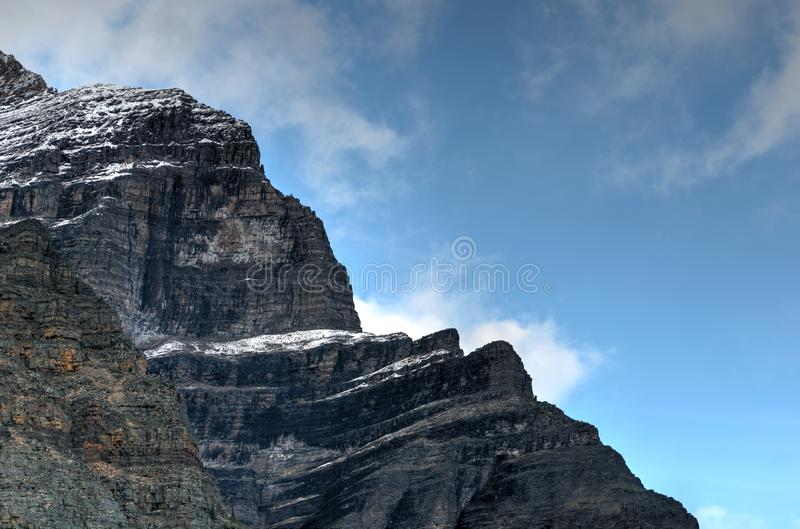 Jeziorna morena, Banff obrazy royalty free