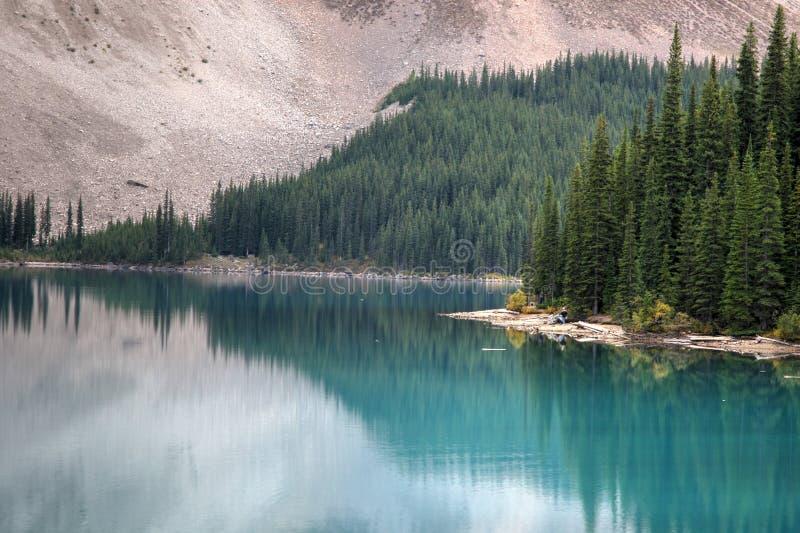 Jeziorna morena, Banff obraz stock