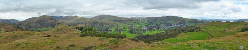 Download Jeziorna Okręgu Krajobrazu Panorama, Anglia Zdjęcie Stock - Obraz: 20626416