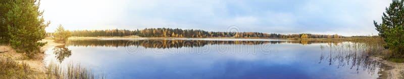 Jeziorna panorama fotografia stock