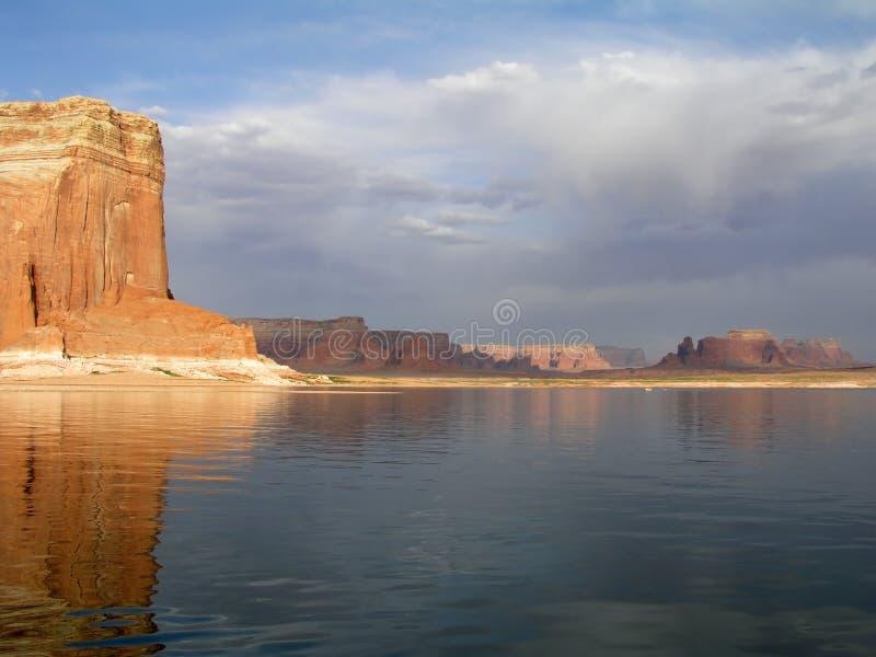Jeziorna Powell burza zdjęcia royalty free