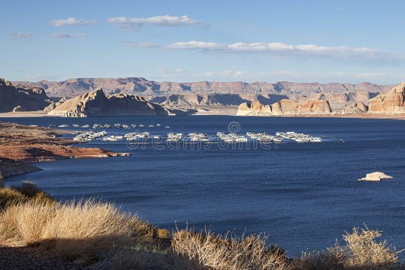 Jeziorna Powell pobliska strona, Arizona fotografia royalty free