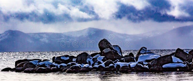 Jeziorna Tahoe zima Vista obrazy royalty free