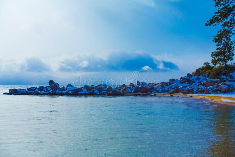 Jeziorna Tahoe zima Vista zdjęcia stock