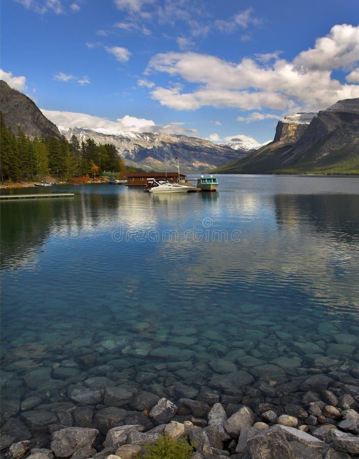 jeziorni cumowniczy jachty fotografia royalty free
