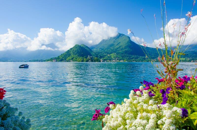 Jeziorny Annecy Francja obrazy stock