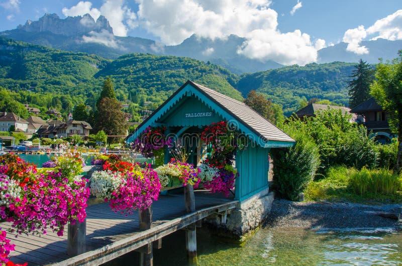 Jeziorny Annecy Francja zdjęcia royalty free