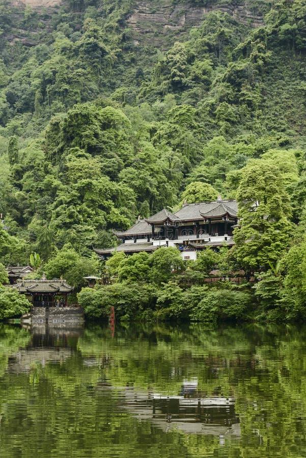 Jeziorny architektura krajobraz obraz royalty free