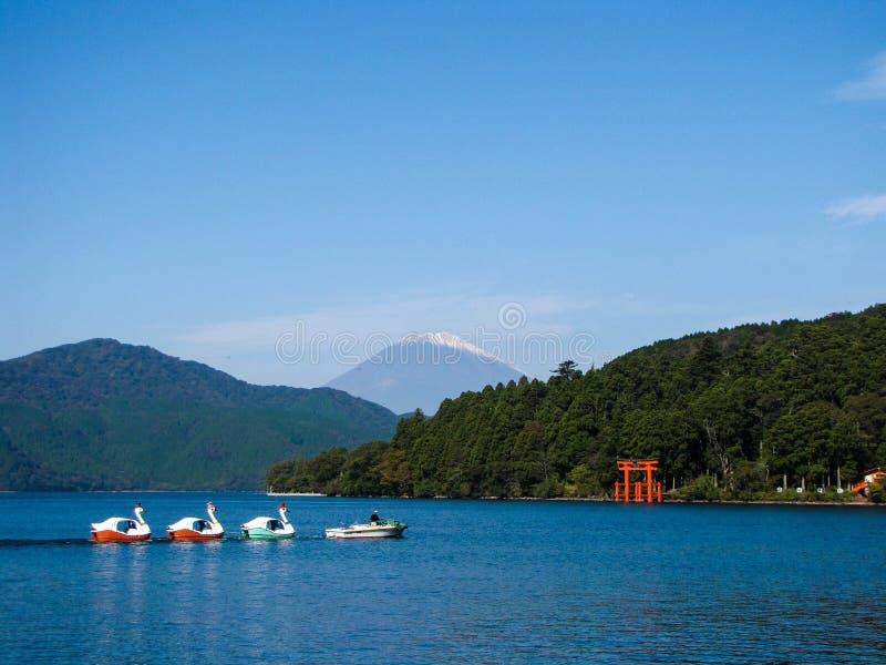Jeziorny Ashi Fuji i góra obrazy royalty free