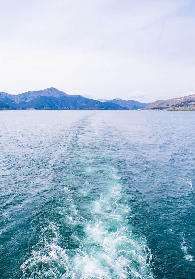 Jeziorny Ashi, Hakone, Japonia zdjęcie royalty free