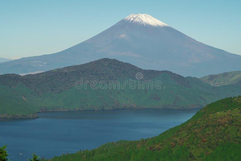 Jeziorny Ashino i Mt fuji obrazy royalty free