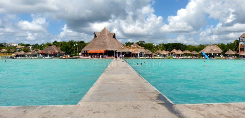 Jeziorny Bacalar Mexico zdjęcie stock