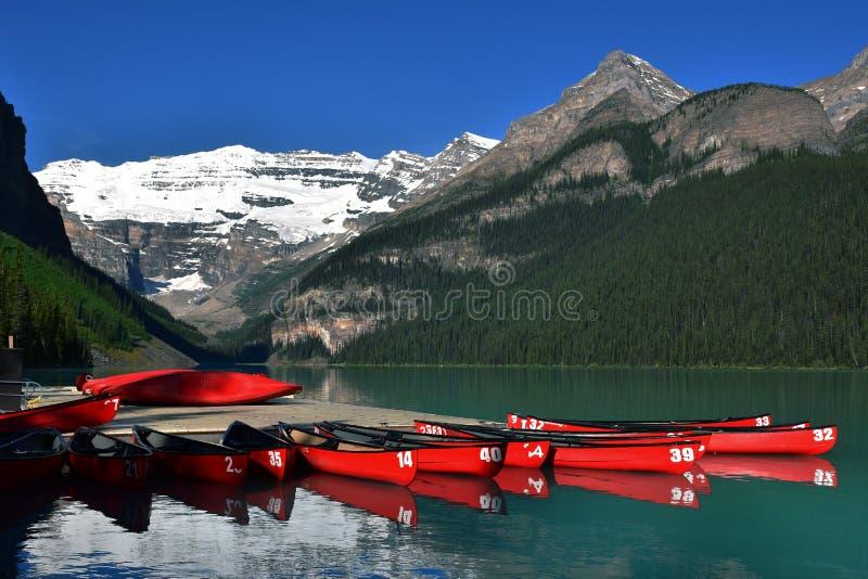 jeziorny Banff park narodowy Louise zdjęcie royalty free