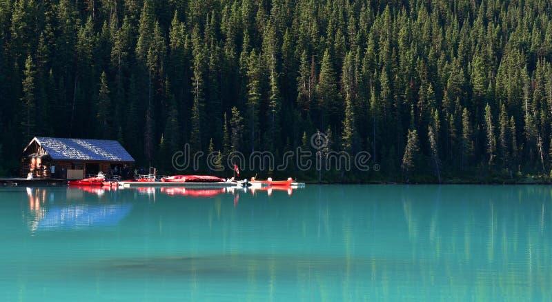 jeziorny Banff park narodowy Louise fotografia royalty free