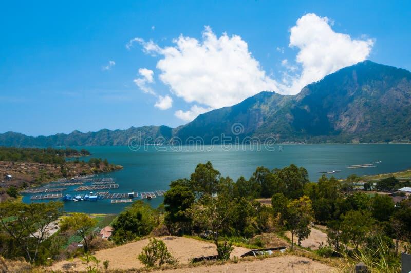 Jeziorny Batur, Bali, Indonezja obraz stock