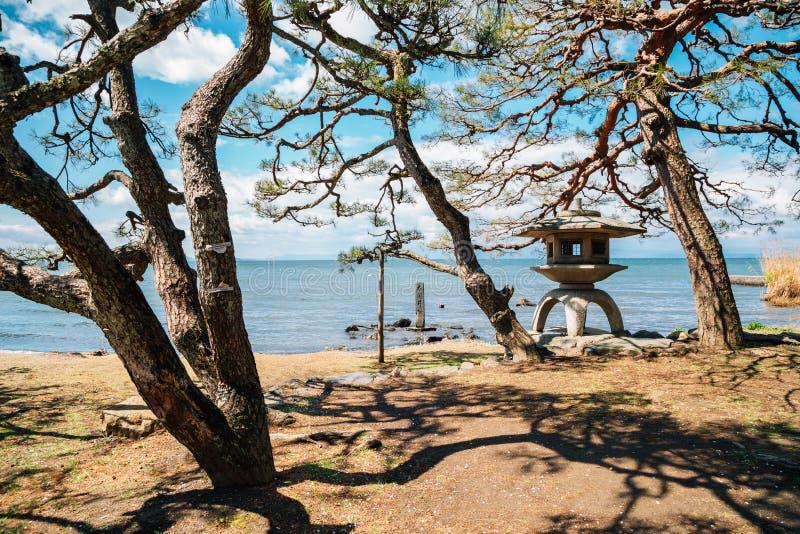 Jeziorny Biwa w Shiga, Japan fotografia stock