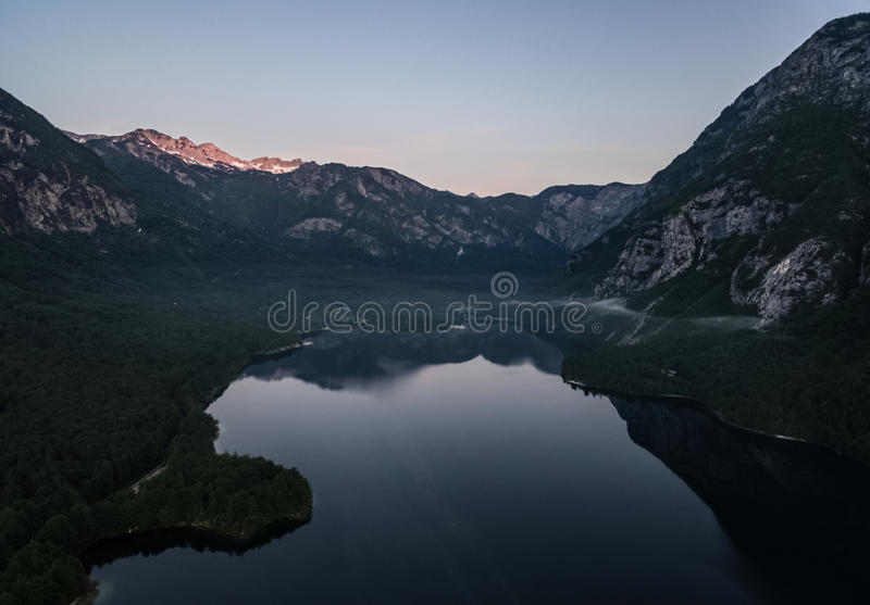 Jeziorny Bohinj zdjęcie stock