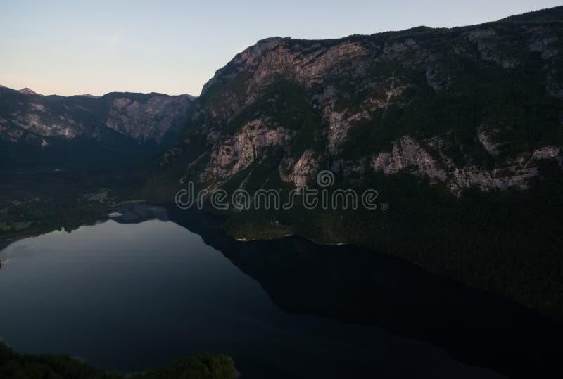 Jeziorny Bohinj zdjęcia stock