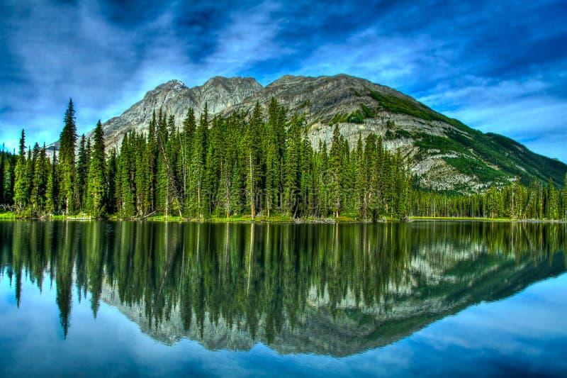 jeziorny borowinowy odbicie zdjęcie stock
