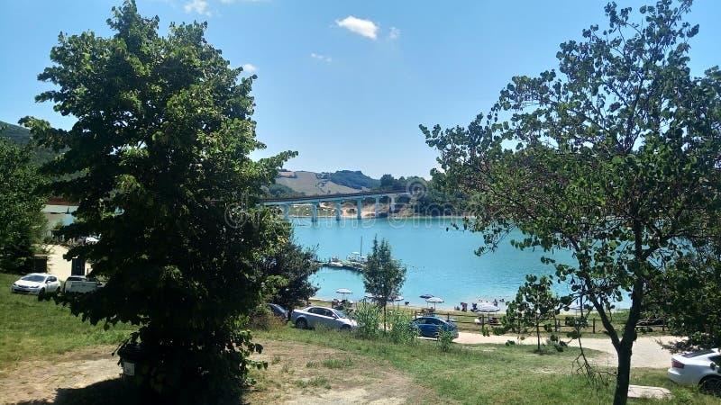 Jeziorny Castreccioni, Cingoli, Macerata, Włochy fotografia royalty free