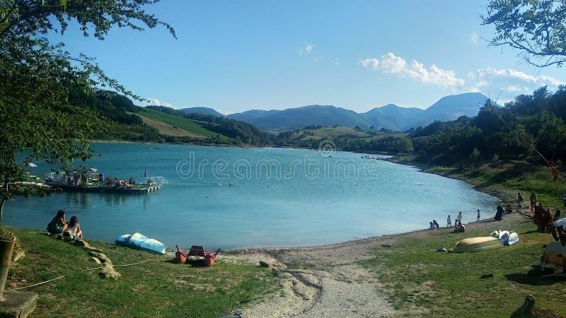 Jeziorny Castreccioni, Cingoli, Macerata, Włochy zdjęcia royalty free