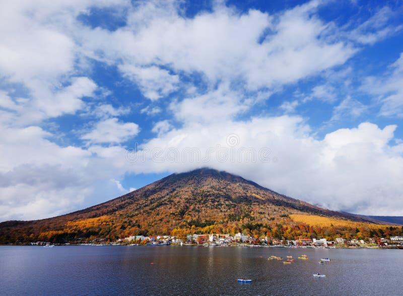 Jeziorny Chuzenji, Japonia fotografia royalty free