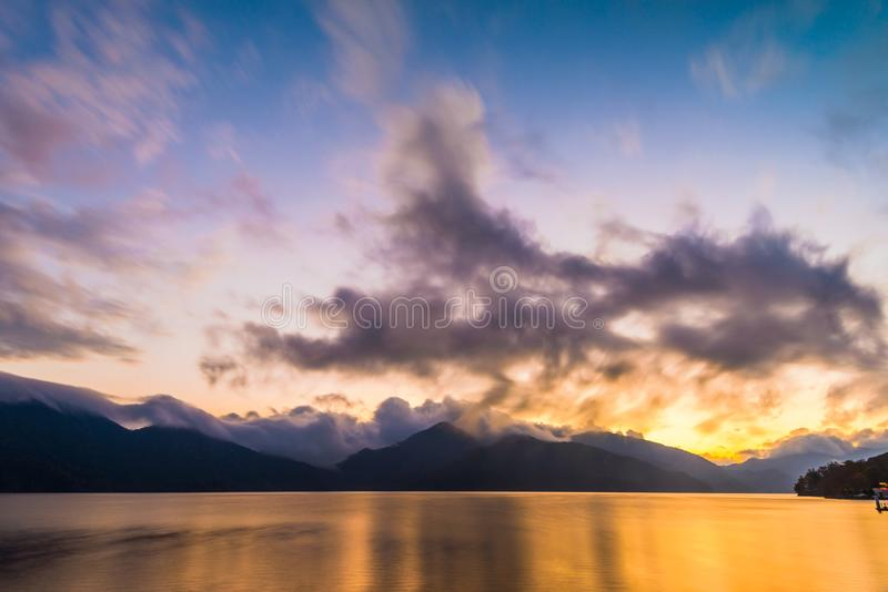 Jeziorny Chuzenji, Nikko, Japonia fotografia royalty free
