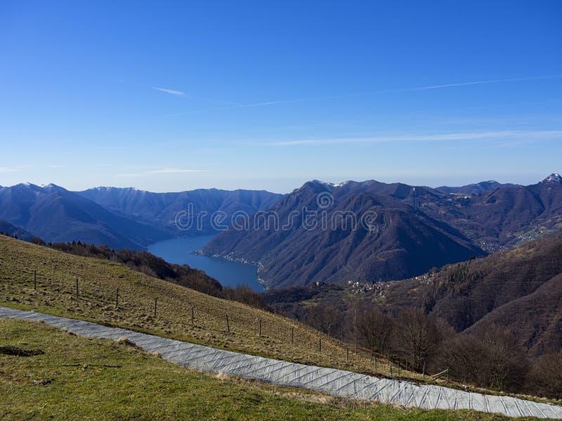 Jeziorny Como krajobraz zdjęcia royalty free