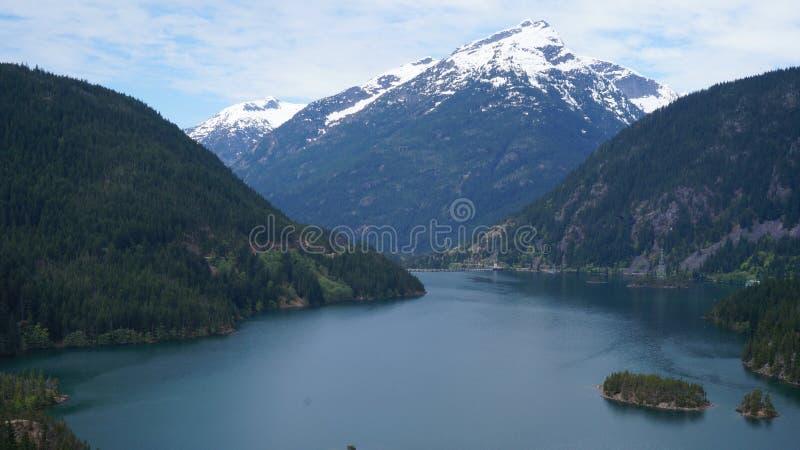 Jeziorny Diablo, stan washington, usa obrazy royalty free
