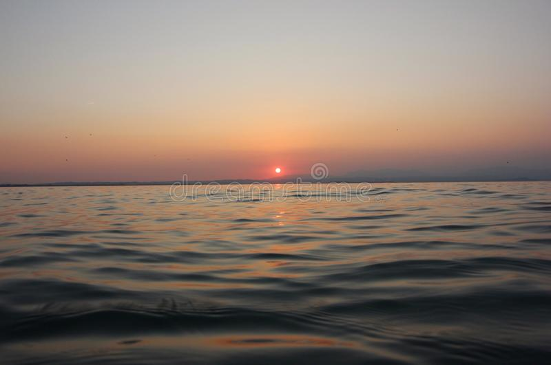 Jeziorny Garda zmierzch fotografia stock
