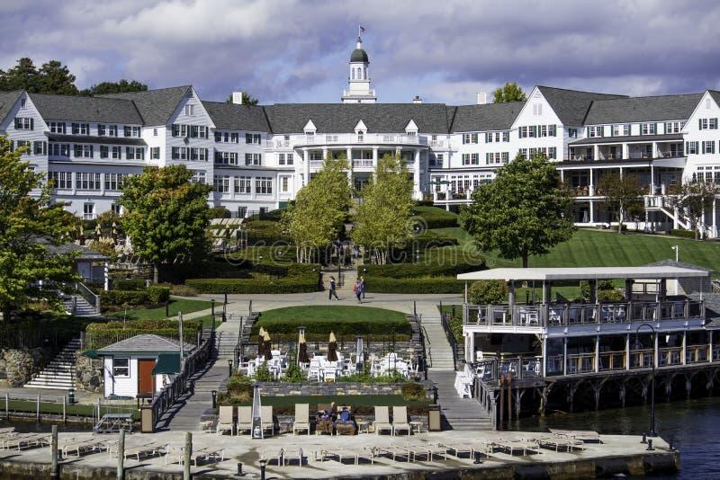 Jeziorny George †'PAŹDZIERNIK 8: Dziejowy Sagamore hotel otwierający obraz royalty free