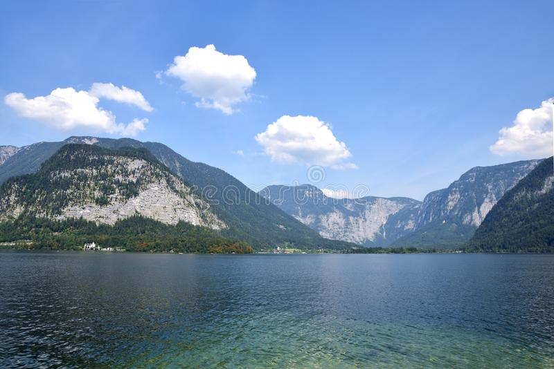 Jeziorny Hallstatt, Austria zdjęcie royalty free