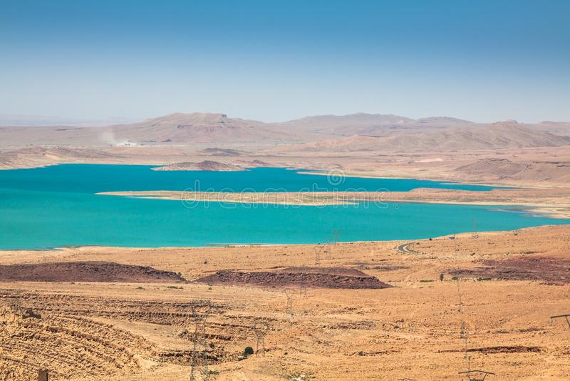 Jeziorny Hassan addakhil w Errachidia Maroko fotografia royalty free