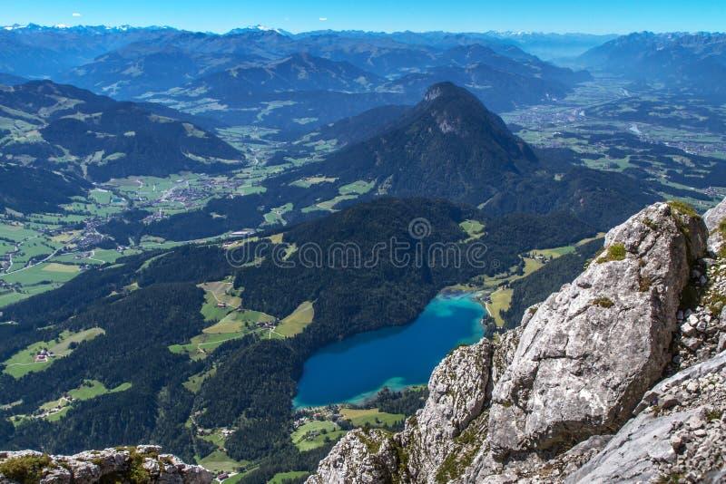 Jeziorny Hintersteiner Widzii w Austria zdjęcia stock