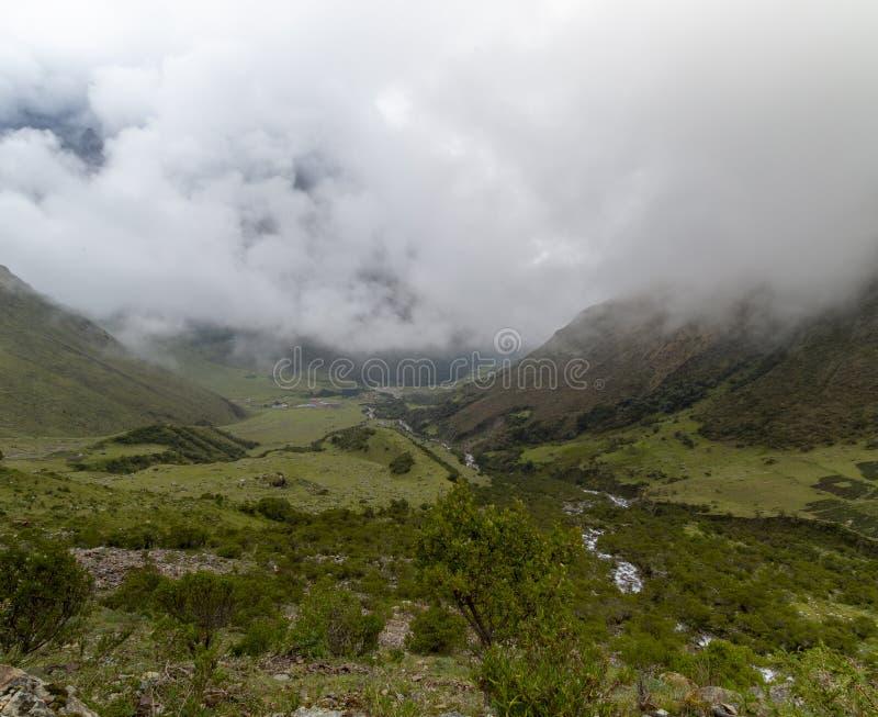 jeziorny Humantay z górami w plecy, w Cusco, Peru obrazy stock